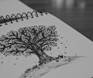 tree, drawing, and art image