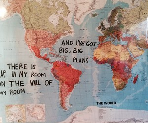 map, quotes, and travel image