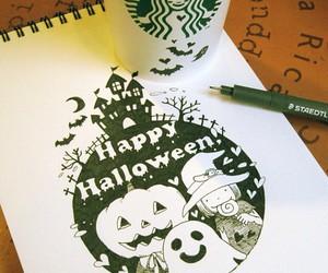 Halloween and starbucks image