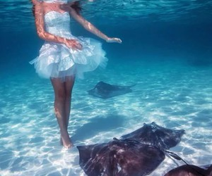 girl, oceano, and sea image