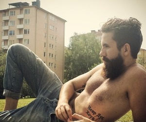 beard, handsome, and guy image