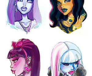 monster high, draculaura, and cute image