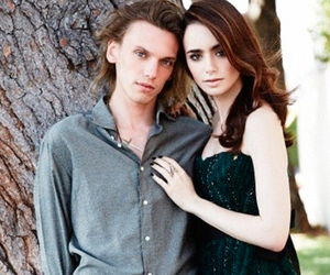lily collins, Jamie Campbell Bower, and clary image