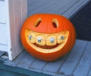 Halloween, pumpkin, and braces image