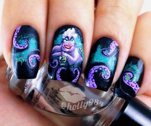 nails, ursula, and disney image