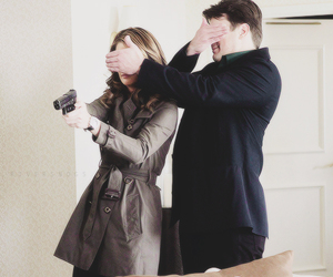 funny, caskett, and castle image