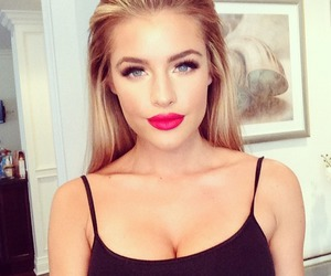 blonde, makeup, and lips image