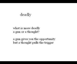 black, deadly, and thought image