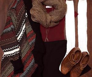 brown, cardigan, and fashion image