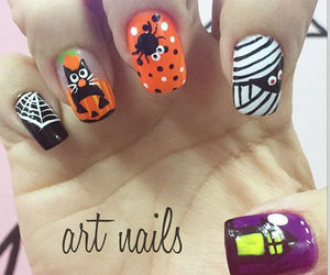art, Halloween, and nail image