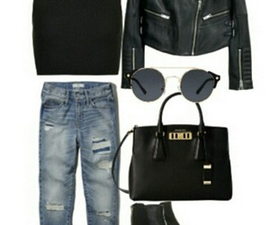 boots, boyfriend jeans, and fashion image