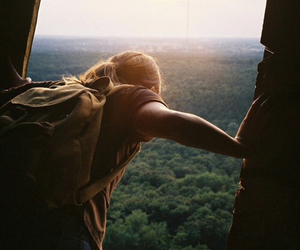 girl, nature, and adventure image