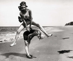 beach, fun, and leap frog image