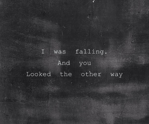 sad, quotes, and falling image