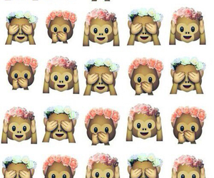 monkey, emoji, and wallpaper image