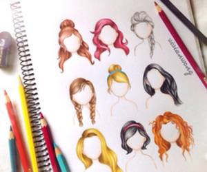 disney, princess, and hair image