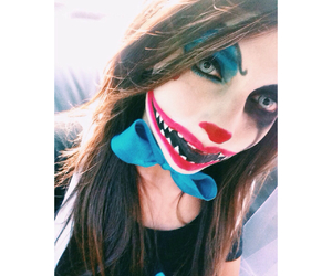 blue, clown, and makeup image