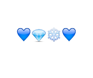 blue, heart, and ice image