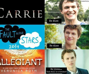 divergent, tfios, and ansel elgort image