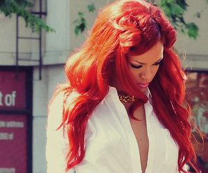 rihanna, red hair, and hair image
