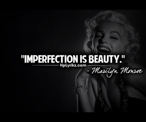 quote, beauty, and imperfection image