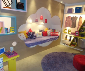 room, bedroom, and clouds image