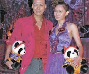 Halloween, panda, and zombie image