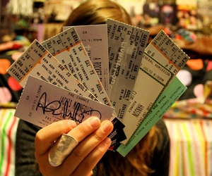 concert, tickets, and concert tickets image