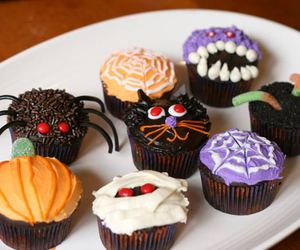 Halloween, cupcake, and spider image