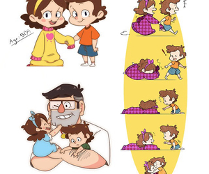 twins, gravity falls, and mabel pines image