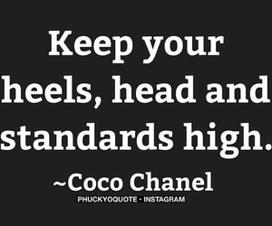 heels, coco chanel, and head image