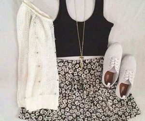 clothes, skirt, and sweater image