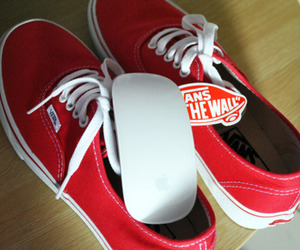 apple, red, and shoes image