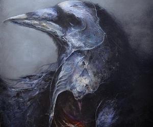 animal, crow, and death image