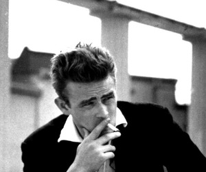 50's, black and white, and james dean image