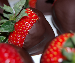strawberries, chocolate, and food image