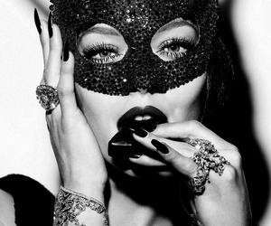 mask, woman, and sexy image