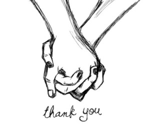 love, thank you, and hands image