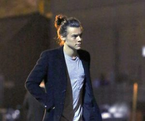 bun, london, and Harry Styles image
