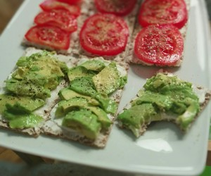 avocado, bread, and fitness image