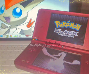 blue eyes, pokemon, and red image