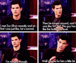 funny, Taylor Lautner, and zac efron image