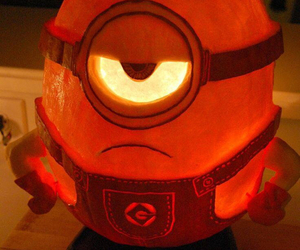minions, pumpkin, and despicable me image