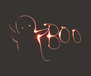 boo, ghost, and Halloween image