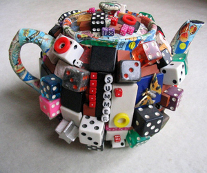dice, tea, and cute image