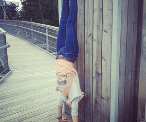 gymnastics and handstand image