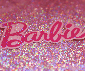 barbie, glitter, and pink image