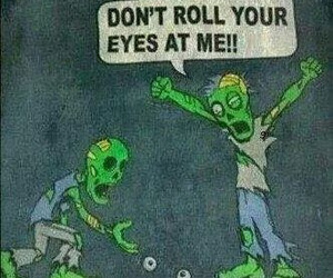 funny, eyes, and zombie image