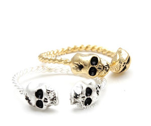 Halloween, skull, and skull ring image