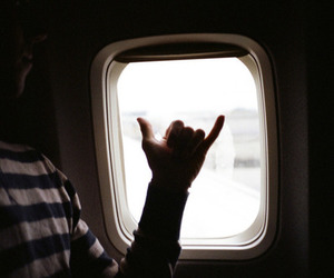 airplane, travel, and indie image